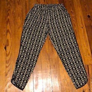 Vintage silky patterned slim harem pant